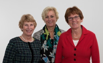 Van links naar rechts: Jollie Wildeman, Ankie Jochemsz en Wilma Bleeker