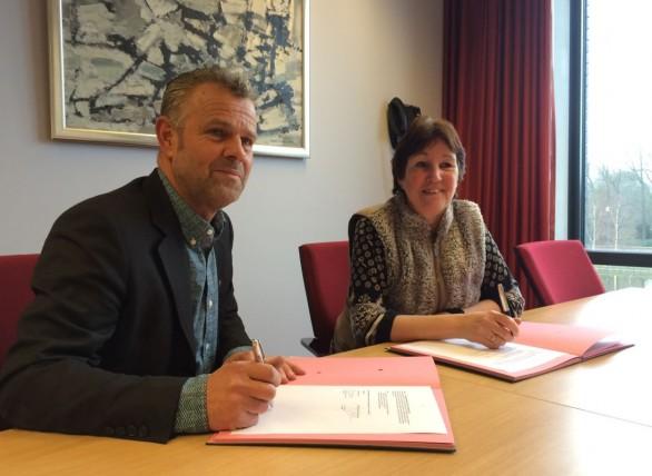 Paul van Eerden en Wethouder Jaqueline Dorenbos