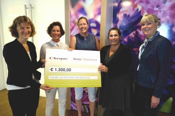 Vrienden van het GHZ ontvangt gift van Monuta Charity Fund