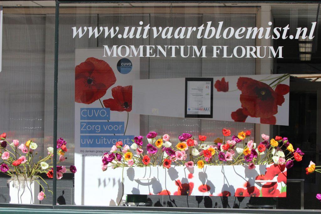Stilstaan bij duurzame uitvaart bij Uitvaartbloemist Momentum Florum